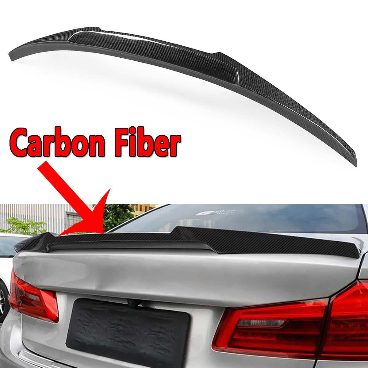 Nouveau aileron de coffre arrière ailes véritable couvercle de Spoiler de coffre en Fiber de carbone pour 2017-18 pour BMW G30 520d 530i 540i V Type voiture-style