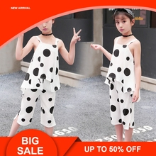 Hot Girls Clothing Sets 2019 Summer Cotton Vest Two-piece Sleeveless Children Sets Casual Fashion Girls Clothes Suit Skirt