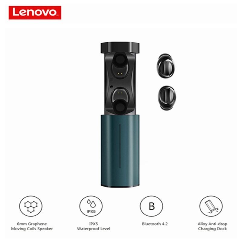 Lenovo Earphone Bluetooth True Wireless Earbuds Mic-Charging-Dock Ipx5 Waterproof In-Ear