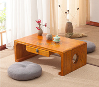 60x40x30cm Japanese Antique Console Table One Drawer Rectangle Asian Furniture Living Room Oriental Traditional Floor Tea Table