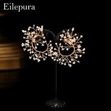 Eilepura New Vintage Design Natural Fresh Water Pearl Flower Earring Fashion Women Statement Stud Earrings Jewelry Boucles Femme