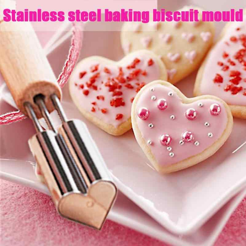 New Stainless Steel star/flower/heeart shape Cookie Mold chocolate Cake Cookie Cutters DIY pastry Baking Tools
