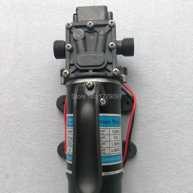 10L/min 120 W électrique haute pression auto-amorçante petite pompe à eau dc pompe à diaphragme 12 v 24 v