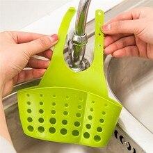 2 sztuk/paczka ekologiczne Kitchen Sink gąbka do przechowywania kosz wisi regulowany Snap przycisk typu stojak spustowy kran kosze do przechowywania
