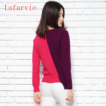 women knitted Pullovers Warm Female thickening Patchwork Sweater