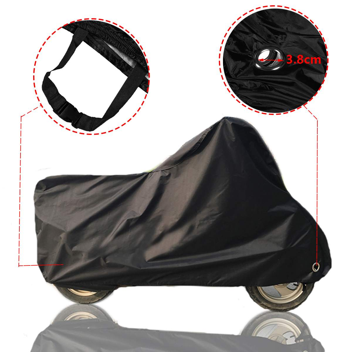 L/XL/2XL/3XL/4XL 190T Case Waterproof Motorcycle Cover Outdoor Dust UV Protector 190T Polyester Elastic Hem Protect Rain DustL/XL/2XL/3XL/4XL 190T Case Waterproof Motorcycle Cover Outdoor Dust UV Protector 190T Polyester Elastic Hem Protect Rain Dust
