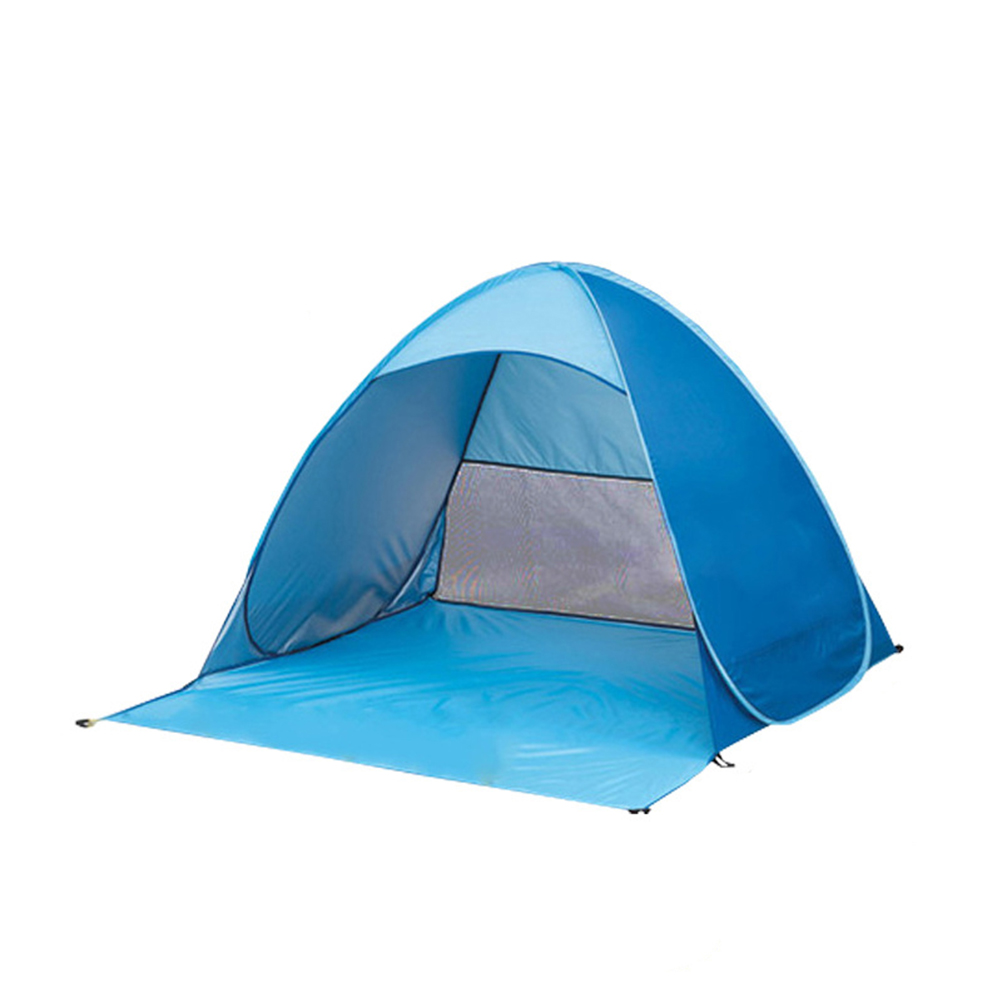purchase cheap 75d2f 62cff US $22.24 41% OFF|Portable Automatic Pop Up Instant Cabana Beach Tent  Folding Sun Shelter For Baby Toy Tents (Blue)-in Toy Tents from Toys &  Hobbies ...