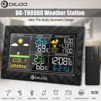 Digital Large Screen Weather Station Thermometer Hygrometer Sunrise Sunset Display Outdoor Indoor Temperature Humidity Sensor