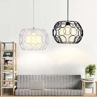 Personality Edison Bulb Pendant Lamps Restaurant Bar Cafe Lamps Rattan Field Pasta Ball E27 LED Pendant Light