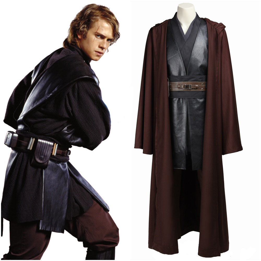 Star Wars Anakin Skywalker Darth Vader Cosplay Costume Men Outfit with Cloak