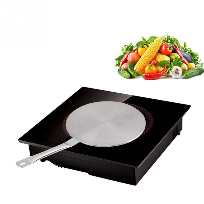 20cm 24cm Stainless Steel Induction Cooker Thermal Guide Plate,Cooktop Heat Converter Disk Cookware For Magnetic Kitchen Tool