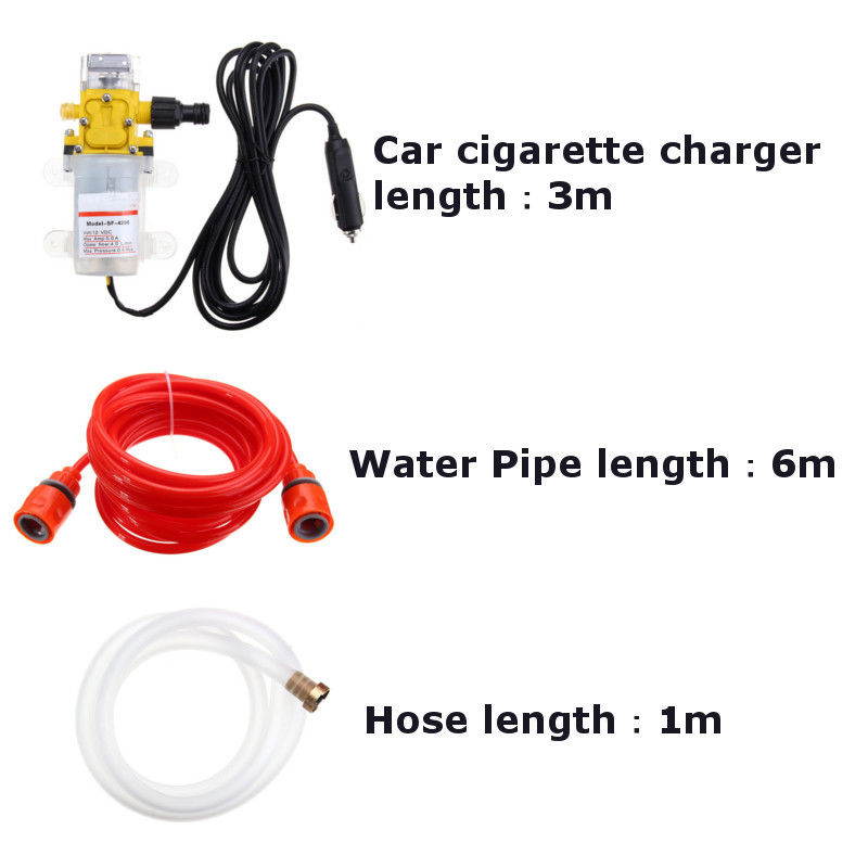 160psi high pressure portable electric car washer pump and auto washing machine kit with car charger