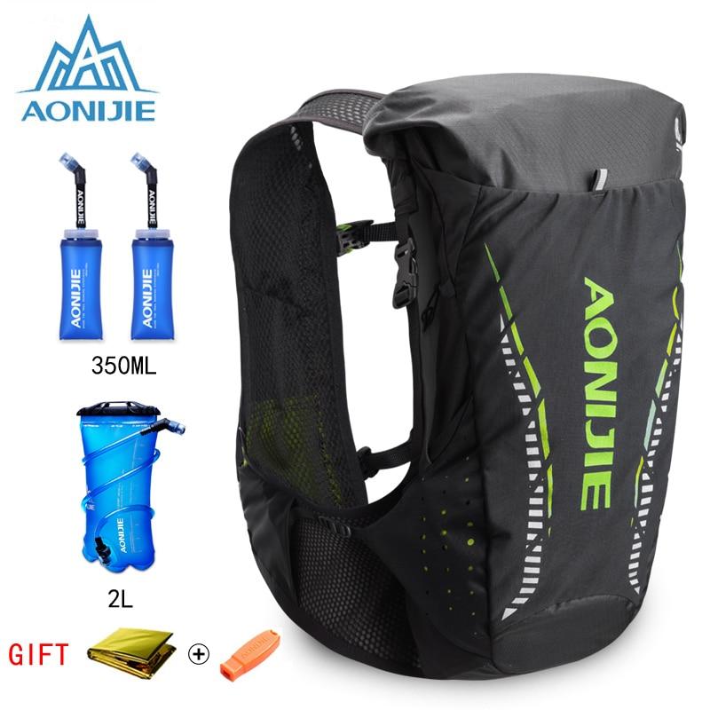 AONIJIE 18L Outdoor Lightweight Hydration Backpack Rucksack Bag Vest for 2L Water Bladder Hiking Camping Running Marathon Race