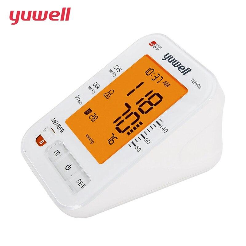 Image 2 - Yuwell 690A الذراع مراقبة ضغط الدم LCD الرقمية مقياس نبض القلب قياس ضغط الدم جهاز الرعاية الصحية المنزلية الطبيةضغط الدم   -