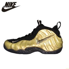 Nike Air Foamposite Pro Gold Bubble Original Men Basketball Shoes Motion Leisure Time Outdoor Sports Sneakers #624041-701