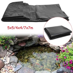7x7 m/5 × 5 m/4 × 4m HDPE 魚池ライナー庭の池造園プール強化厚いヘビーデューティ防水膜ライナー布