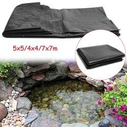 7x7 m/5x5 m/4x4 m HDPE balık gölet astar bahçe gölet peyzaj havuzu takviyeli kalın ağır su geçirmez membran astar kumaş