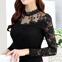 Blouses Women Lace Summer Tops And Casual Hollow Out Blouse Female Work Wear Office Shirts Plus Size 5XL black white