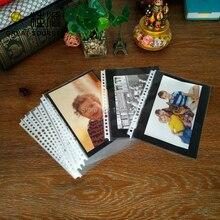 Photo Album leaf DIY Leaf Punched Pocket With 300g Black Paper Card Board Nonpoisonous Tasteless For A5 Binder Folder
