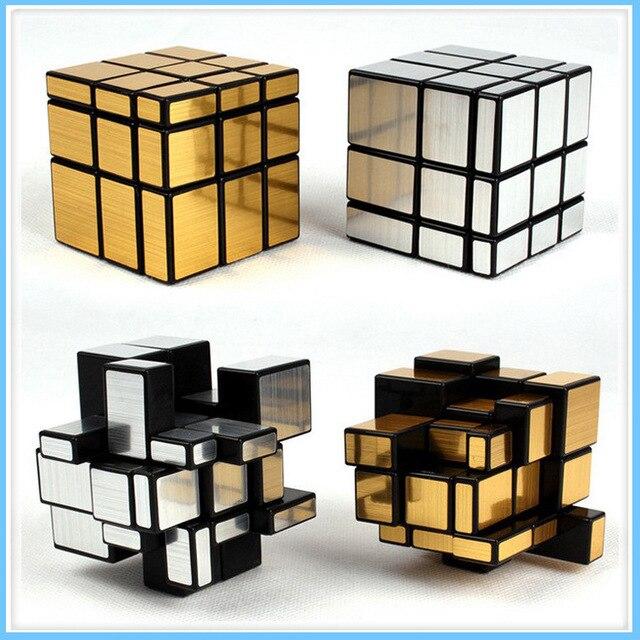 3x3x3, волшебный зеркальный куб, профессиональная золотого и серебряного цвета, Cubo Magico, с глянцевым покрытием головоломка Скорость твист изучение и образование игрушки