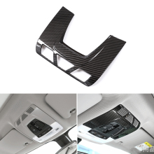 Car Styling Carbon Fiber Style Front Roof Reading Light Frame Cover Trim For BMW 1 2 3 series 3GT F30 F34 X1 F48 X5 X6 F15 F16 8pcs set high quality carbon fiber material plated door handle car sticker for bmw f15 x5 f16 x6 x1 f48 2015 2016 2017