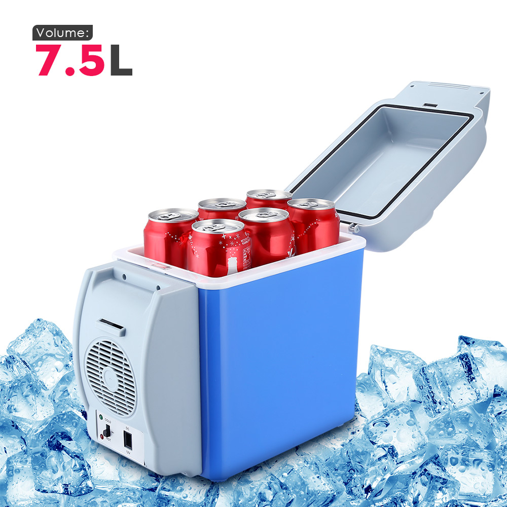 GBT - 3008 Portable 12V 7.5L Auto Travel Refrigerator Cool and Heat Car Mini Fridge ABS Home Cooler Freezer Warmer with 3 Holes цены