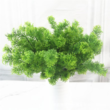 Simulated plant green wall decoration flowers, leaves, pine and cypress 7 fork 35 mesh new products on the market