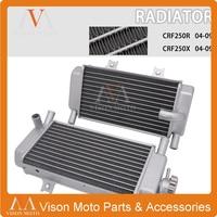 Motorcycle Aluminum Radiator Water Tank Cooling For Honda CRF250R CRF250X CRF 250R 250X 250 R X 2004 2005 2006 2007 2008 2009