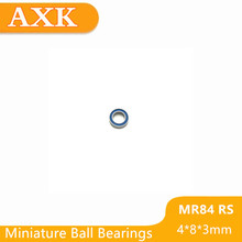 2019 Real New Mr84rs Bearing Abec-3 (50pcs) 4*8*3 Mm Miniature Mr84-2rs Ball Bearings Rs Mr84 2rs With Blue Sealed L-840dd