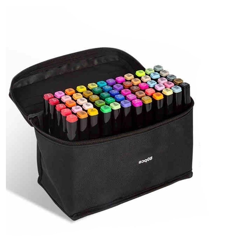 NOUVEAU Durable Trois générations stylo ensemble double tête alcool gras 60 80 couleur marqueur PAS Abordable