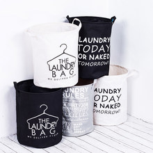 Waterproof Foldable Fabric Laundry Basket With Handles Storage Bin Home Bathroom Organizer Nursery Storage Dirty Laundry Basket(China)