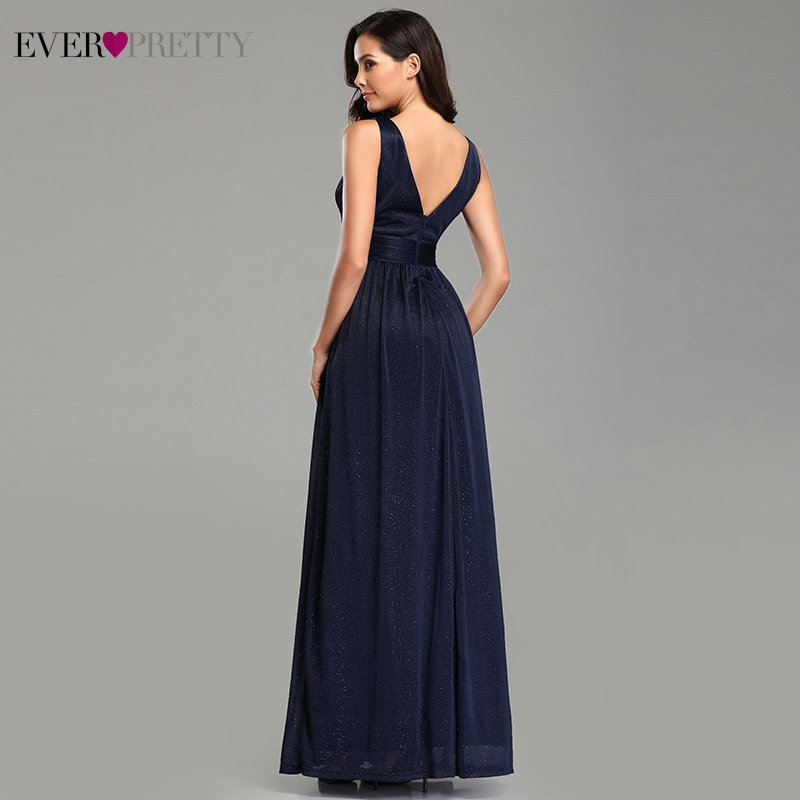 Image 3 - Ever Pretty Prom Dresses V Neck A Line Sleeveless Empire Floor Length Elegant Sexy Party Gowns 2019 Vestidos De Fiesta De Noche-in Prom Dresses from Weddings & Events