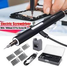 DOERSUPP мини электрический беспроводной Магнитный Отвертка Инструмент перезаряжаемый литий-ионный аккумулятор Precisions ручная Отвертка Набор бит