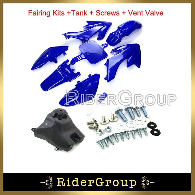 BLUE Plastic Number Plate CRF70 Style Fairing 150cc 160cc PITPRO Trail Dirt Bike
