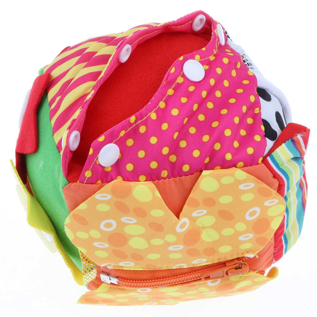 Яркий Цвет Ткань шнурки молния Кнопка узнать Куб Блок игрушка для детей детские развивающие игрушка для раннего развития подарок