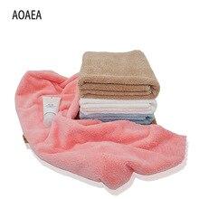 Высококачественное однотонное из микрофибры Коралловое бархатное полотенце 35*75 см пляжное банное большое толстое впитывающее полотенце подарок