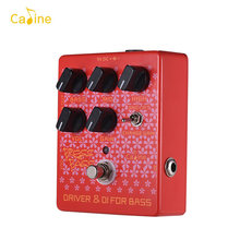 Caline CP-59 Press Pass Red Guitar Effect Pedal with True Bypass Driver and DI Box Classic Tube Amp Guitar Pedal for Bass Guitar(China)