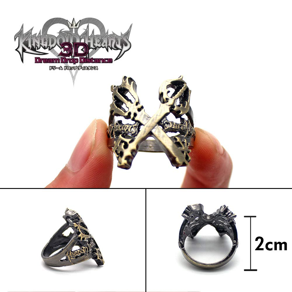 Kingdom Hearts Sora Silver anime Cosplay Ring
