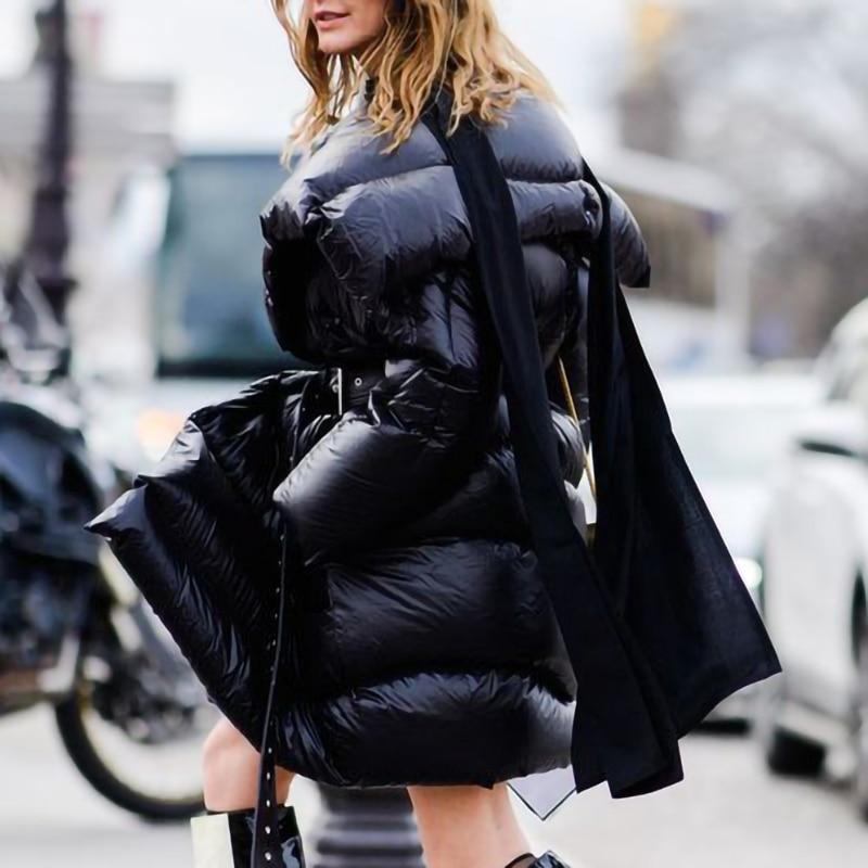 À Manches Longues Canard Long Duvet Hiver Ceinture Irrégulière 2019 Manteau L385 D'hiver De Femmes Black Down Veste xnzq8AIv