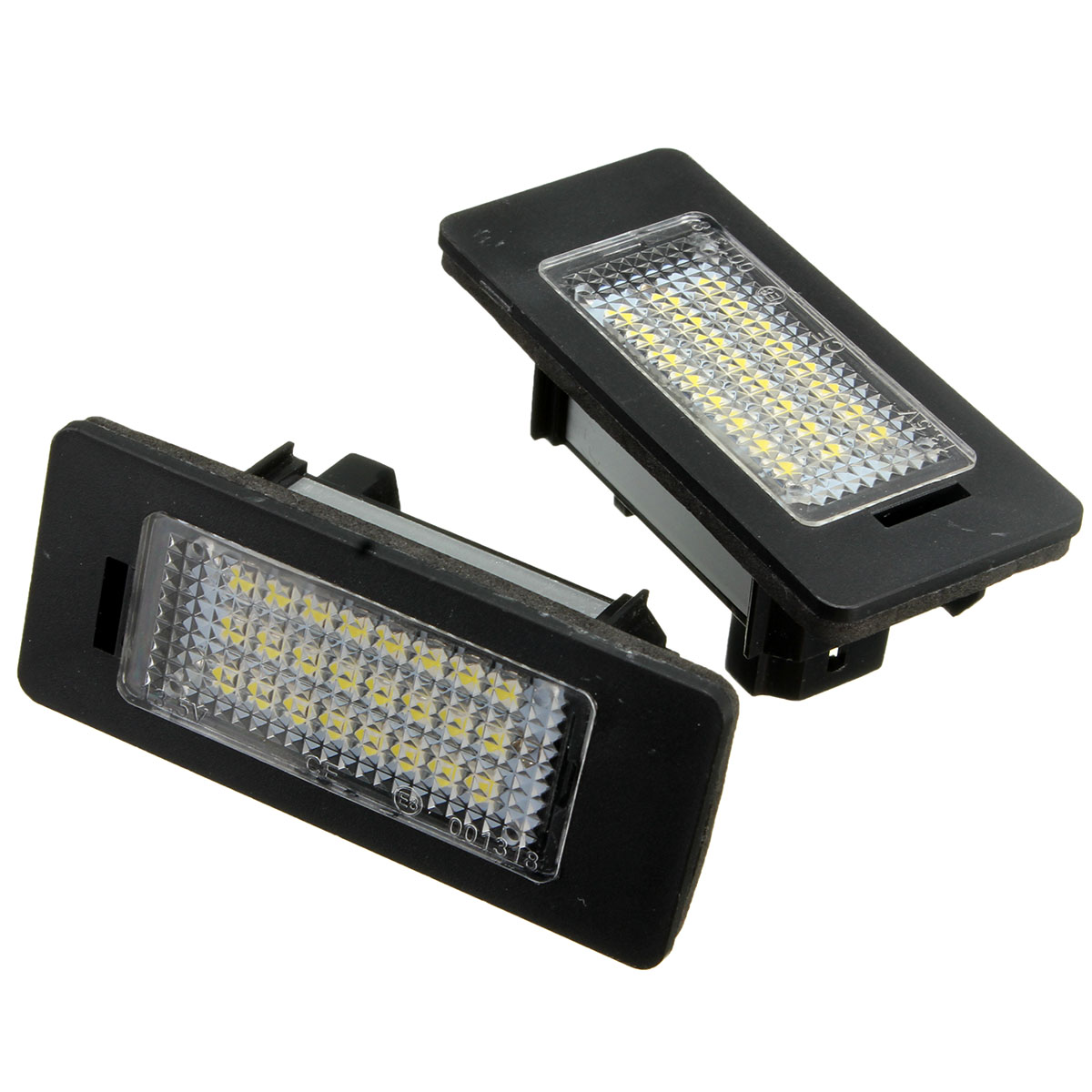 2Pcs 24 LED White License Plate Light Number Lamp For BMW E81 E82 E90 E91 E92 E93 E60 E61 E39 X1/E84 E-marked OBC Error Free image
