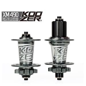 Image 5 - Koozer XM490 Hubs 4 Bearing MTB Mountain Bike QR Thru 32 Holes Disc Brake Bicycle Hub 28H 32H 36H 100*15 12*142mm 100*9 135*10MM