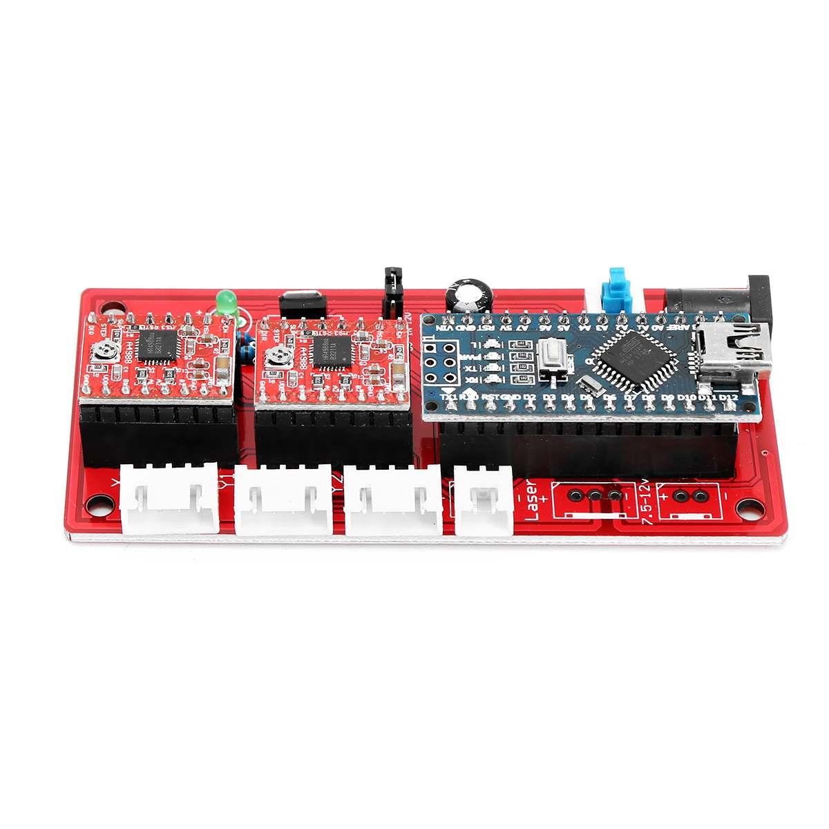 USB 2 Axis Control Board Laser Driver DIY Laser Engraving Machine Motherboard Support For Adjustable Laser Module Output