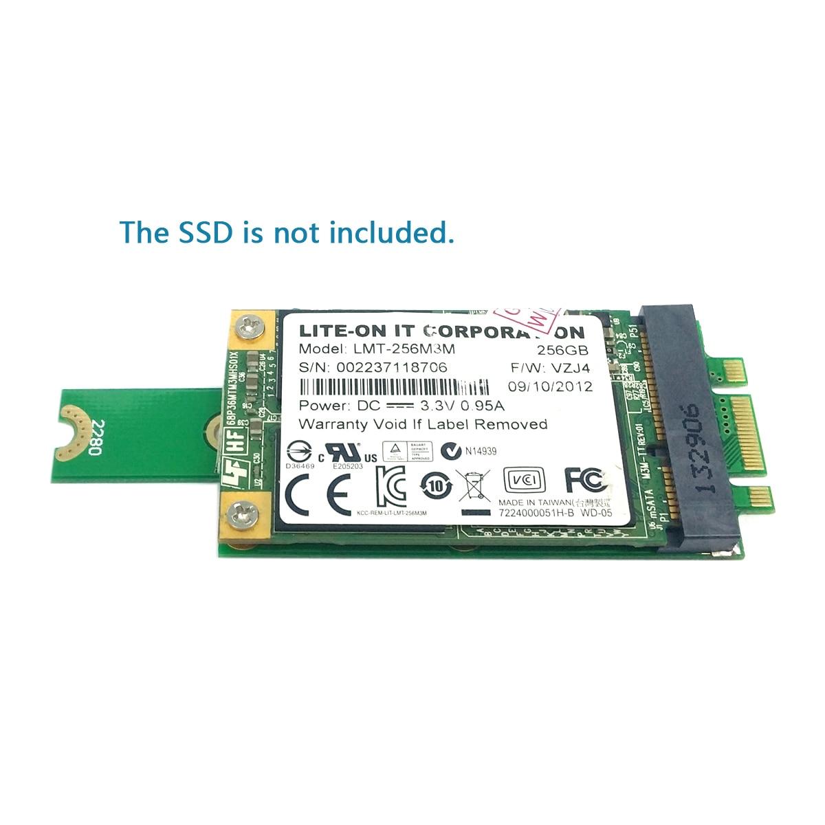 2 in 1 Combo Mini PCI-E 2 Lane M.2 NGFF /& mSATA SSD to SATA 3.0 III Adapter PCBA