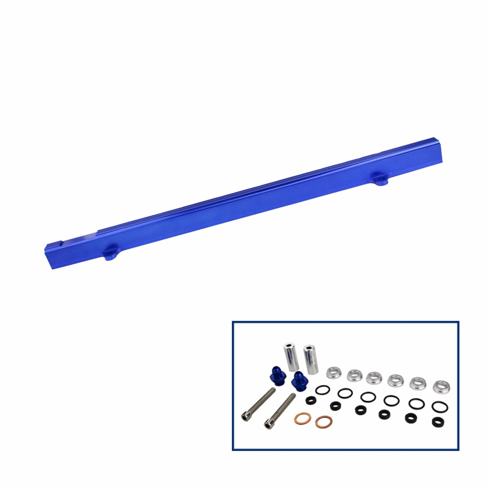 Top Feed Injector High Flow Fuel Rail Kit For Nissan Skyline Rb25 Ecr33 Blue Fuel Rail Kits Fuel Supply TT100807 BL