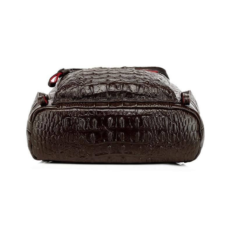 Mochila Tasche Weibliche Taschen Große Schulter Hohe Drucke Frauen Kakifarbiges Krokodil Qualität Rucksack Split Dunkles Multifunktions Leder Schule wqXfPvx