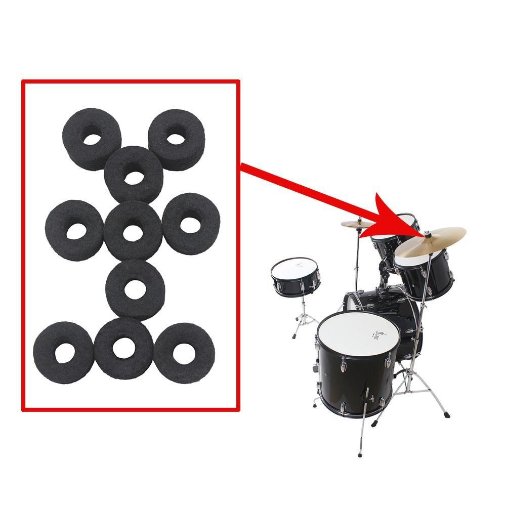 10pcs Drum Cymbal Felt Pads Drum Kit Cotton Slices Percussion Instrument Protection Accessories