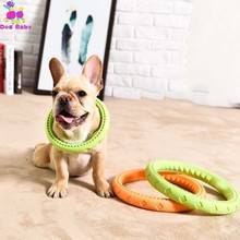 Soft Durable Rubber Ring Chewing Biting Chasing Training Pet Flying Discs Toy For Small And Medium Dog Puppy