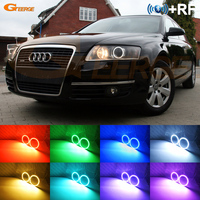 For Audi A6 S6 RS6 2005 2006 2007 2008 XENON headlight RF Bluetooth Controller Multi Color Ultra bright RGB LED Angel Eyes kit