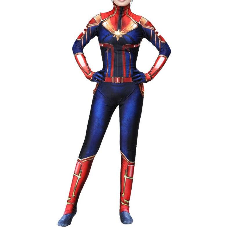 I Bambini Di Età Avengers Infinity Guerra Capitan Marvel Costume Femminile Delle Donne Movie Cosplay Della Tuta Del Partito Costumi Di Halloween Zentai Suit
