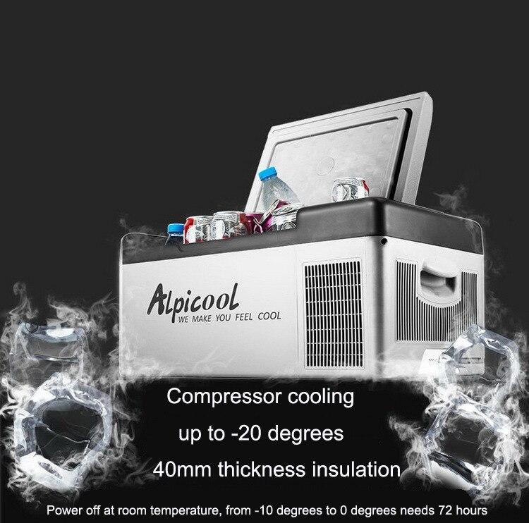 Image 4 - 20L Frige  20 Degrees 12V / 24V Portable Compressor Car Refrigerator App Control Mini Multi Function Home Cooler FreezerRefrigerators   -